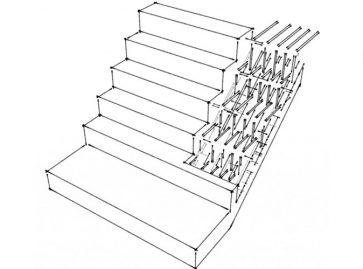 Monolitinių laiptų statyba